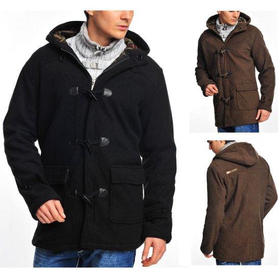 herren winter duffle coat mantel jacke edel schick s xxl neu ebay. Black Bedroom Furniture Sets. Home Design Ideas