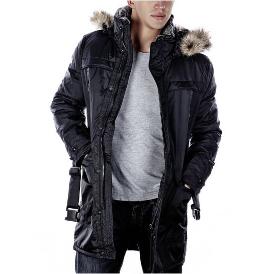 herren winter polar mantel parka outdoor jacke s xxl schwarz gh001 neu ebay. Black Bedroom Furniture Sets. Home Design Ideas